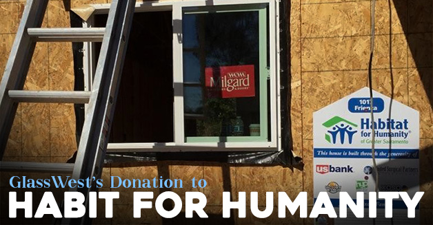 Glass Wests Donation to Habitat For Humanity