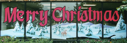 Companies that Do Holiday Window Painting in Sacramento - Glass West