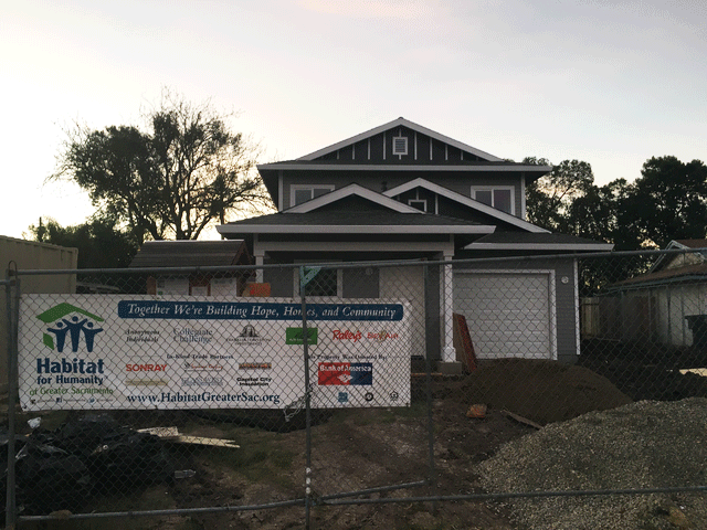 Habitat for Humanity House in South Sacramento