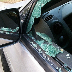 tempered glass car window
