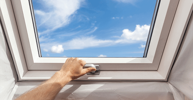 how to clean hard to reach skylights